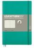 Lt358308 , Leuchtturm notitieboek softcover 19x12.5 cm lijn emerald green