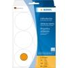 , Etiket Herma 2284 rond 50mm fluor oranje 144st