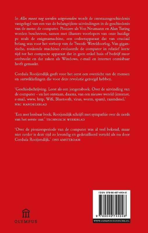 Cordula Rooijendijk,Alles moest nog worden uitgevonden