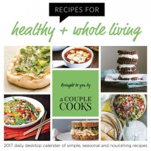Recipes for healthy + whole living 2017 Calendar