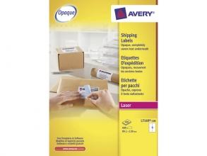 , verzendetiket Avery QuickPeel 139x99,1mm wit 100 vel 4      etiketten per vel