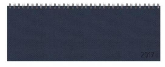 Tischquerkalender Professional Premium dunkelblau 2017