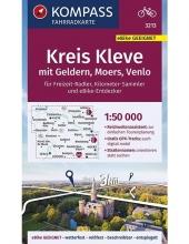 , KOMPASS Fahrradkarte Kreis Kleve mit Geldern, Moers, Venlo 1:50.000, FK 3213