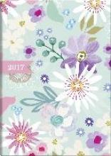 Buchkalender Flowers 2017. 1 Seite = 1 Tag, 145 x 206 mm