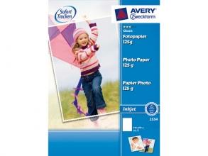, fotopapier Avery A4 125gr wit doos a 20 vel