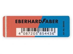 , gum Eberhard Faber inkt/potlood rood/blauw doos à 40 stuks