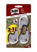 , Correctieroller Pritt 4.2mmx10m eco flex blister 2+1 gratis