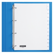 , Tabbladen Quantore 4-gaats 12-delig met venster wit PP