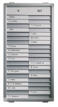 , Aan-afwezigheidsbord Legamaster 54x26cm 20 namen