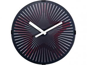 , Wandklok - Ø 30 cm Plastic Bewegende klok- Rood `Motion     Star Red`