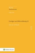 B. Wessels , Gevolgen van faillietverklaring (2)