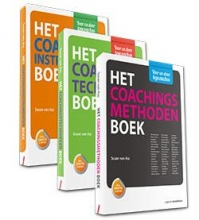 Susan van Ass Basisboeken voor de coach, set 3 delen bevat: Het Coachingsmethoden Boek, Het Coachingstechnieken Boek, Het Coachingsinstrumenten Boek