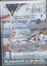 Annie M.G.  Schmidt Plint 10 Poeziekaarten `De regenworm en zijn moeder` Annie M.G. Schmidt