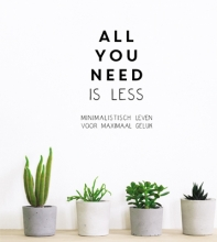 Vicki Vrint , All you need is less