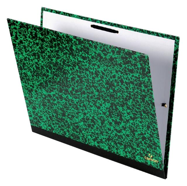 ,Tekenmap Canson studio 28x38cm 2 elastieken groen