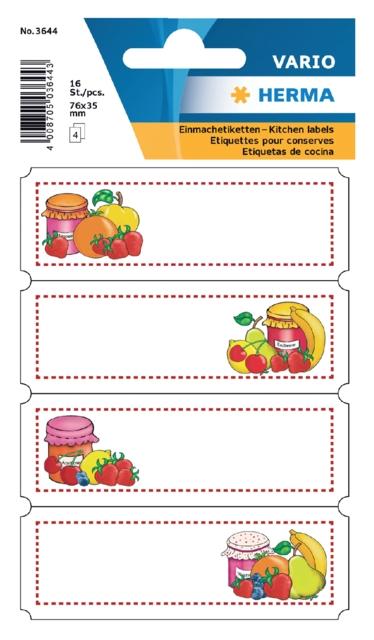 ,Etiket Herma keuken vrucht assortiment