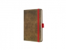 ,notitieboek Conceptum 194blz hard Vintage Brown 95x150mm    gelinieerd