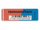 ,<b>gum Eberhard Faber inkt/potlood rood/blauw doos à 40 stuks</b>