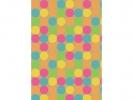 ,Toonbankrol Kraft met gekleurde stippen 30cm breed 60 grams papier 250 meter