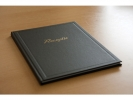 ,receptiealbum Kangaro zwart met vakverdeling 26x21cm