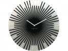 ,Wandklok NeXtime dia. 43 x 3.5 cm, glas, zwart, `Sticks`