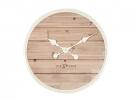 ,Wandklok NeXtime dia. 50 cm, hout, wit, `Plank`