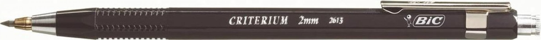 , Vulpotlood Bic Criterium 2mm met gum metalen clip