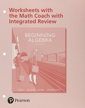 John, Jr. Tobey,   Jeffrey Slater,   Jamie Blair,   Jenny Crawford Worksheets with the Math Coach with Integrated Review for Beginning Algebra