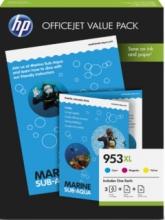 , Inktcartridge HP 1CC21AE 953XL 75vel A4 + 3 kleuren