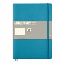, Leuchtturm notitieboek composition 178x254 mm blanco nordic blue