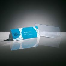 , tafelkaartje Sigel 240x90mm glashelder dakvorm doos a 5     stuks