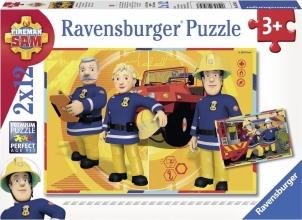 Rav-075843 , Puzzel brandweer sam - sam aan het werk (2x12 stuks)
