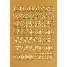 , Etiket Herma 4184 12mm getallen 0-9 goudfolie 66stuks
