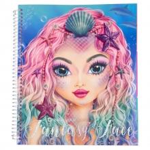 Fantasy create your face colouring book