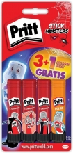 , Lijmstift pritt 4dlg monster sticks 11gr