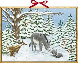 , Wandkalender - Weihnachtsesel
