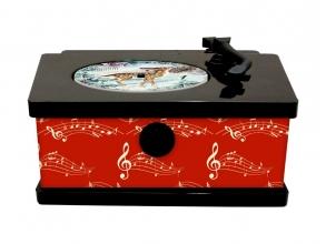 , Vintage platenspeler met 24 kerstliedjes