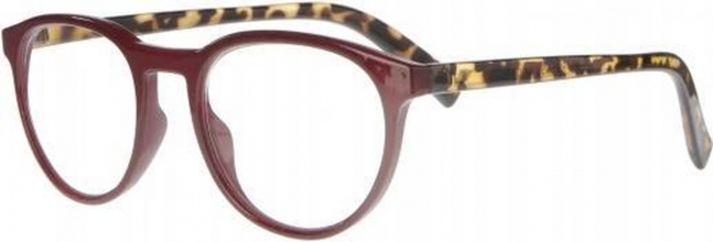 Rce350 , Leesbril icon dark pink from with tortoise temples 2.50