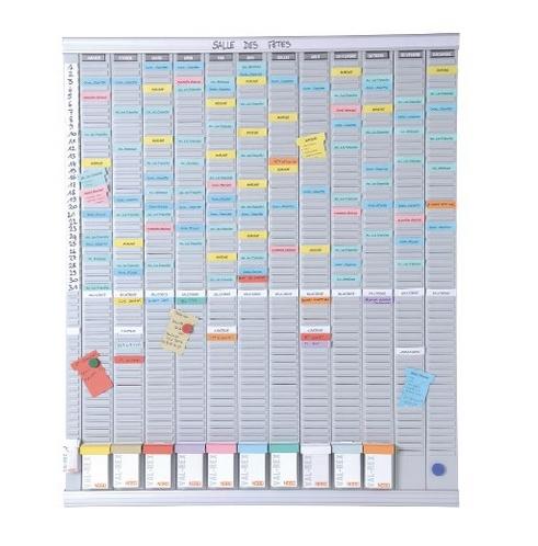 ,Planbord Nobo jaar 12 panelen met 54 sleuven nr.2