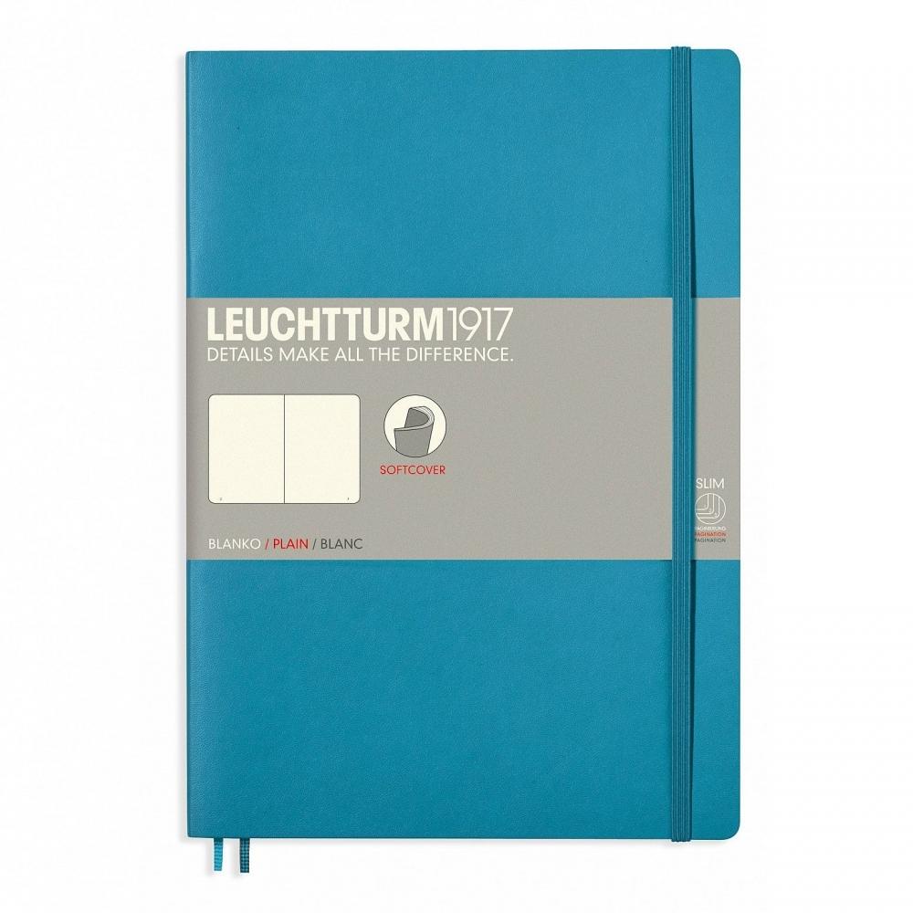 ,Leuchtturm notitieboek composition 178x254 mm blanco nordic blue