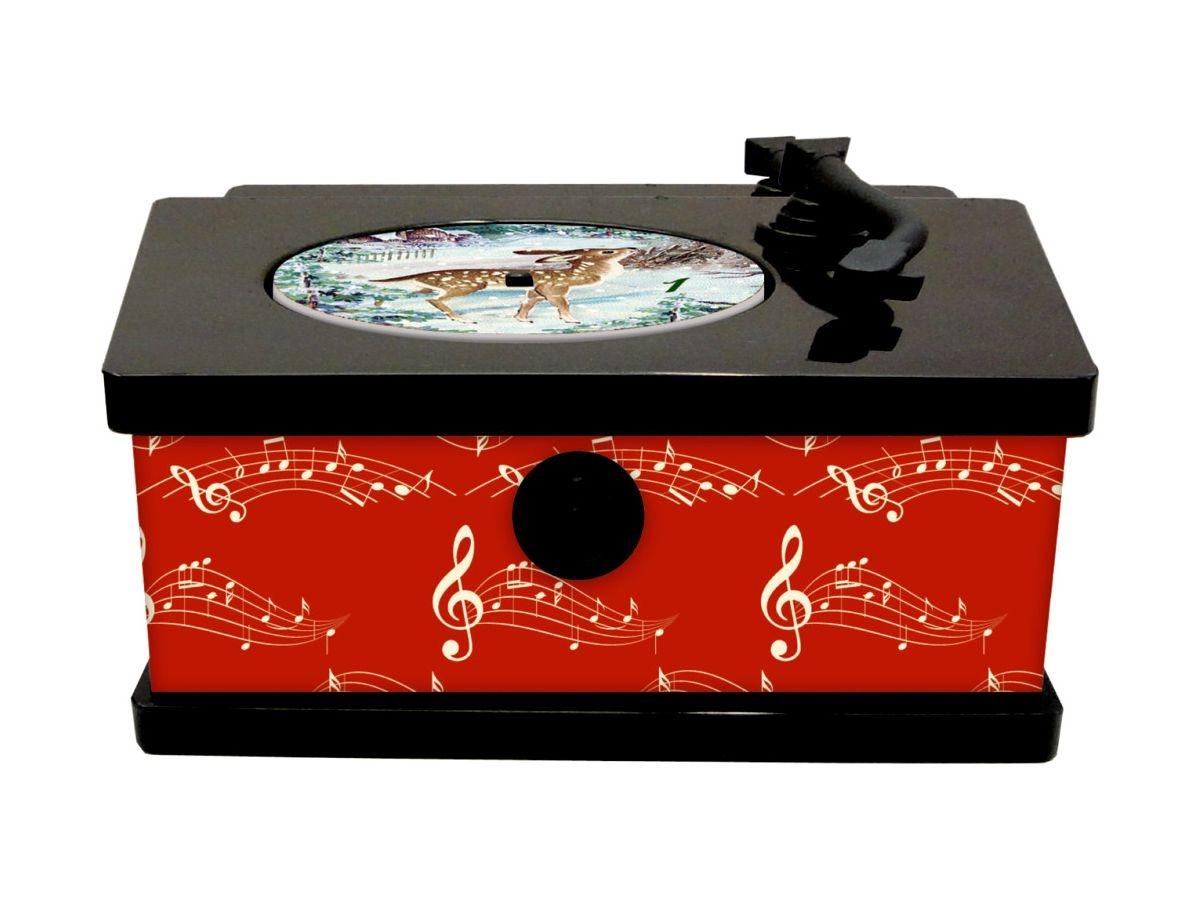 ,Vintage platenspeler met 24 kerstliedjes