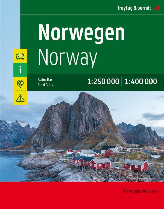 ,Norwegen, Autoatlas 1:250.000 - 1:400.000