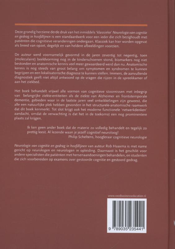 R. Haaxma,Neurologie van cognitie en gedrag in hoofdlijnen