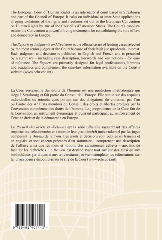 ,Reports of judgments and decisions recueil des arrets et decisions 2010-1