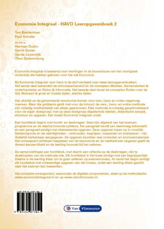 Ton Bielderman, Paul Scholte,Economie Integraal havo leeropgavenboek 2