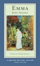 Austen, Jane Emma - Norton Critical Edition 4e
