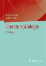 Dörner, Andreas Literatursoziologie