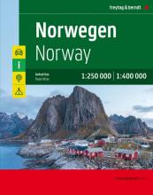 , Norwegen, Autoatlas 1:250.000 - 1:400.000