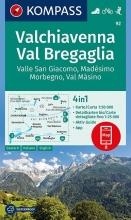, Valchiavenna, Val Bregaglia, Valle San Giacomo, Madésimo, Morbegno, Val Másino 1:50 000