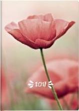 Taschenkalender Mohn 2017. 2 Seiten = 1 Woche, 100 x 140 mm